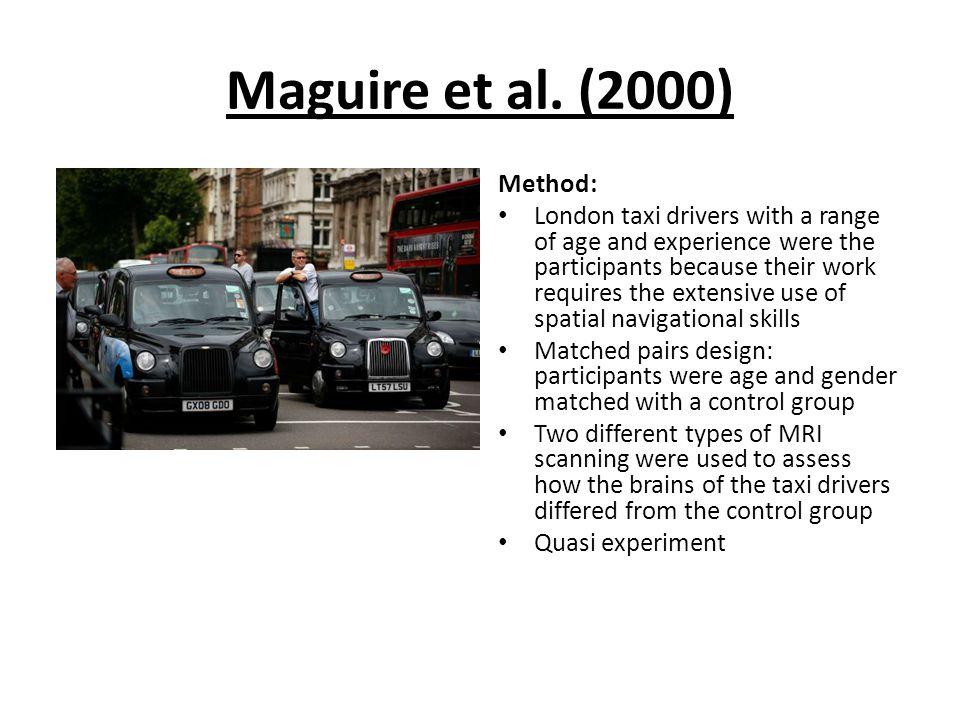 Maguire et al. (2000) Method: