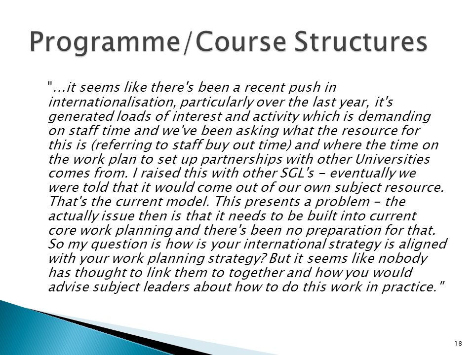 Programme/Course Structures