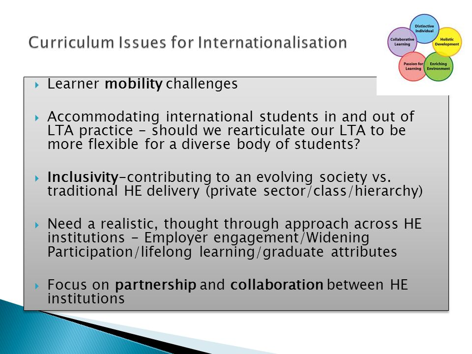 Curriculum Issues for Internationalisation