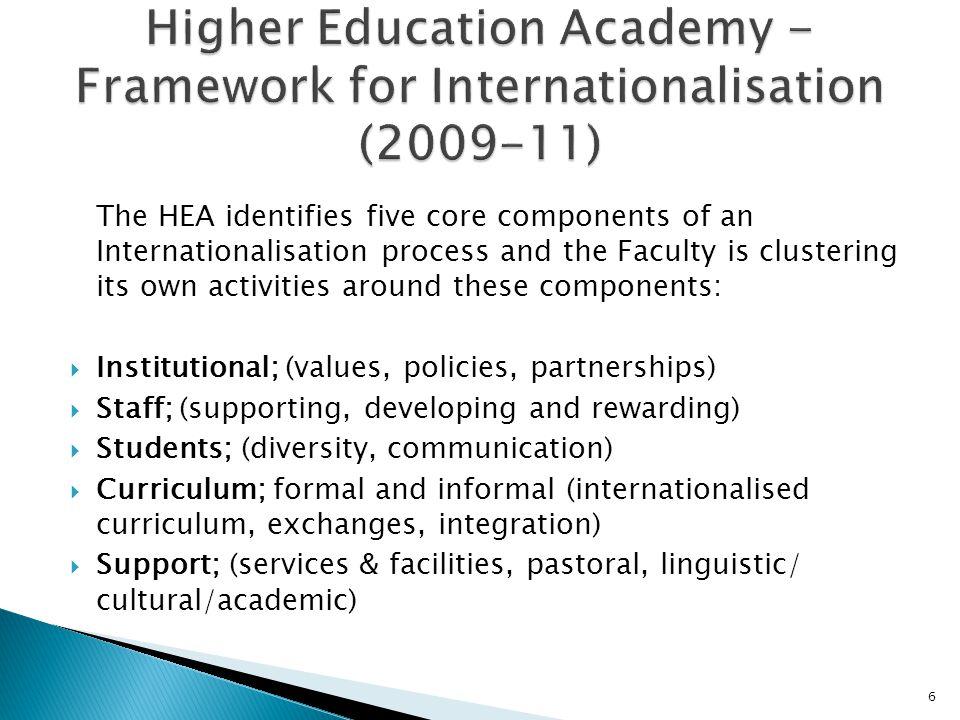 Higher Education Academy - Framework for Internationalisation (2009-11)