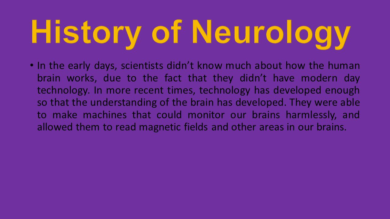 History of Neurology
