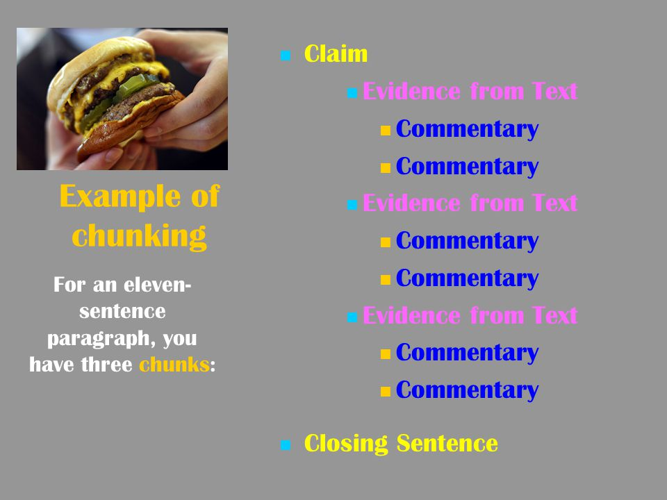 For an eleven-sentence paragraph, you have three chunks: