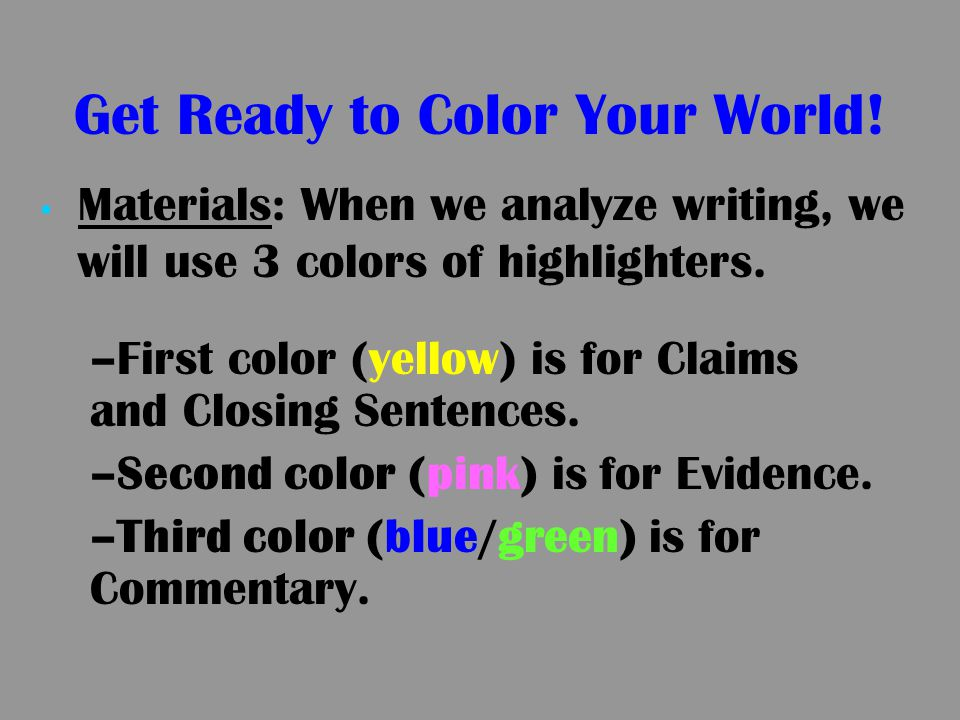 Get Ready to Color Your World!