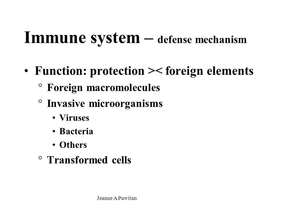 Immune system – defense mechanism