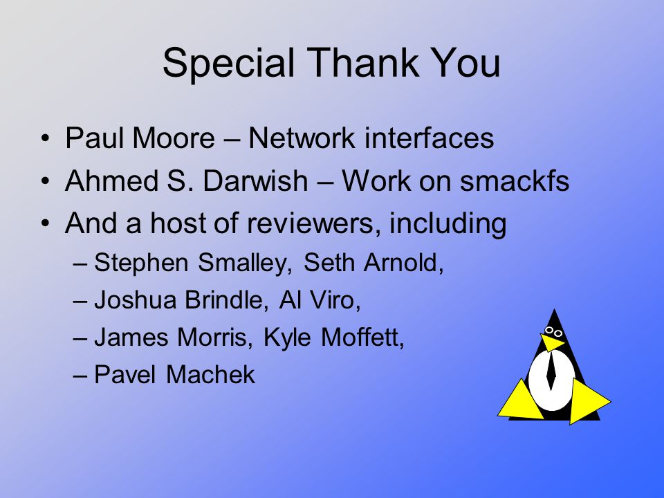 Special Thank You Paul Moore – Network interfaces