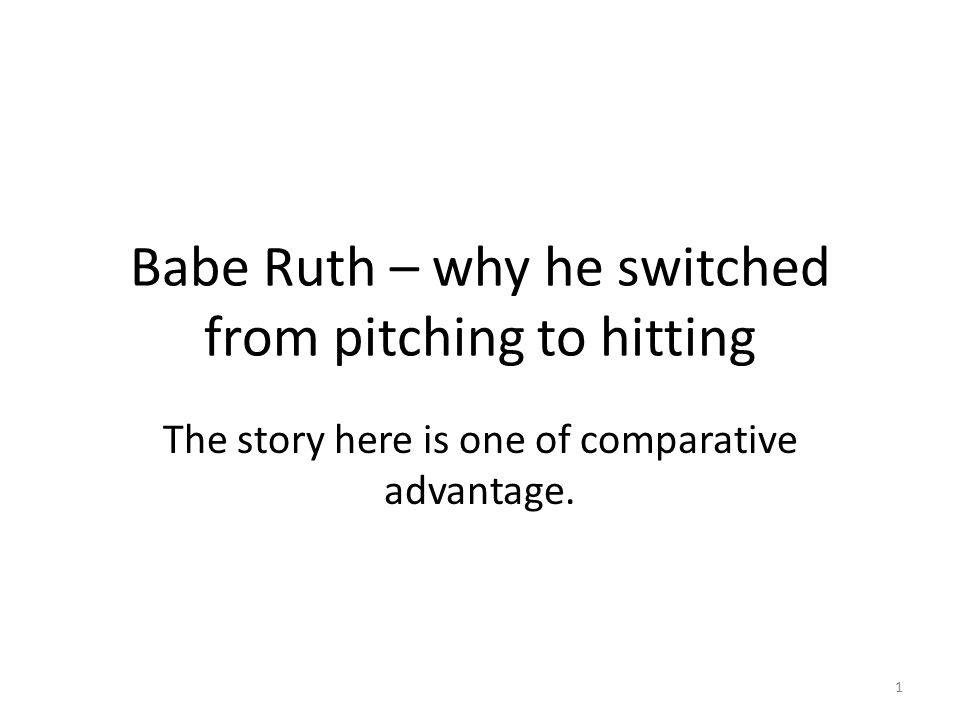 Babe Ruth – why he switched from pitching to hitting