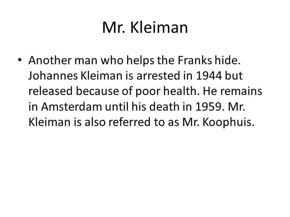 Mr. Kleiman