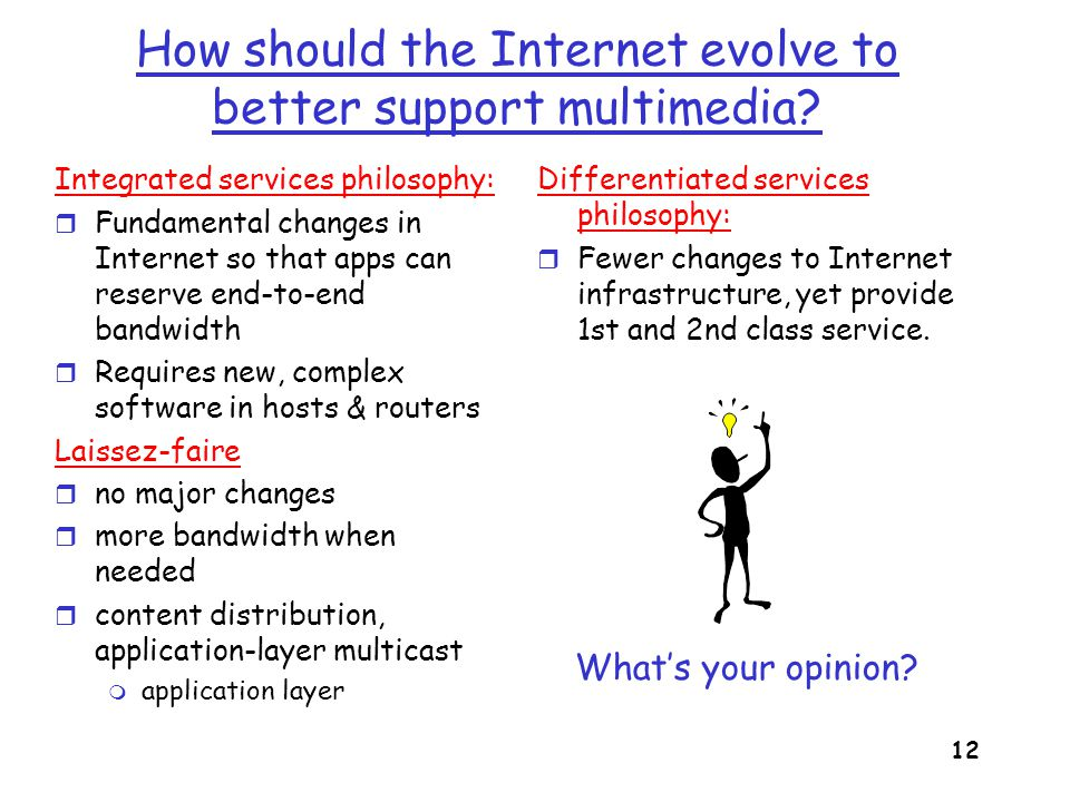 How should the Internet evolve to better support multimedia