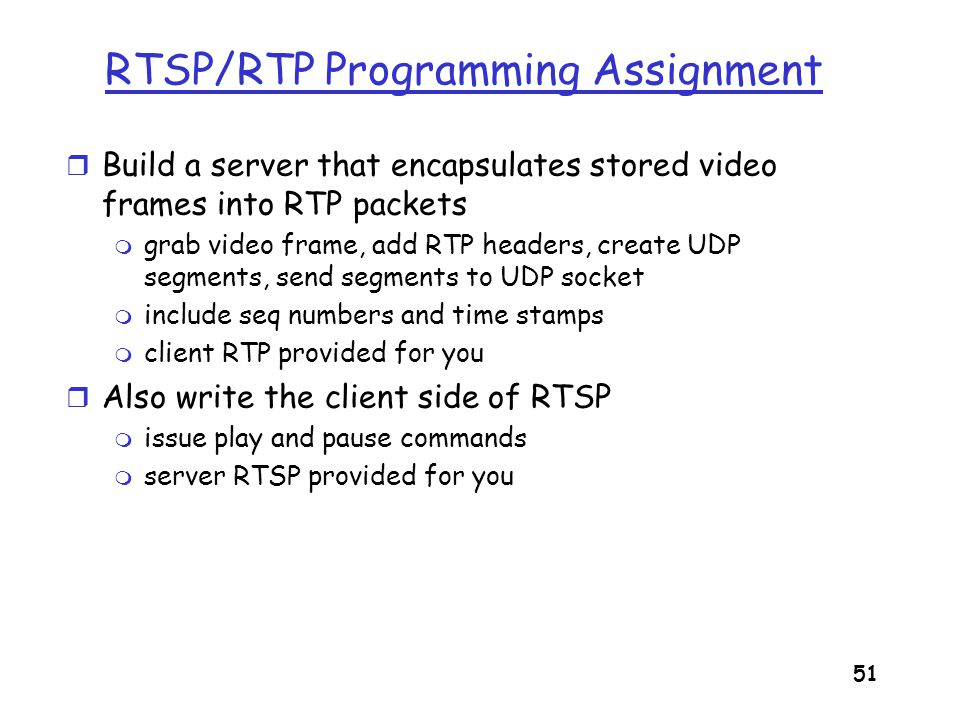 RTSP/RTP Programming Assignment