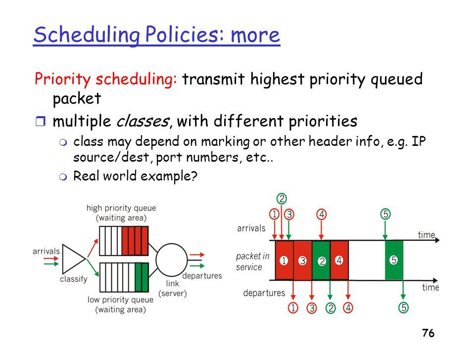 Scheduling Policies: more