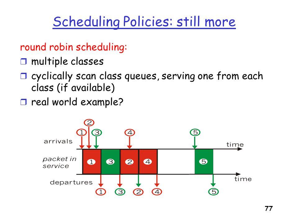 Scheduling Policies: still more