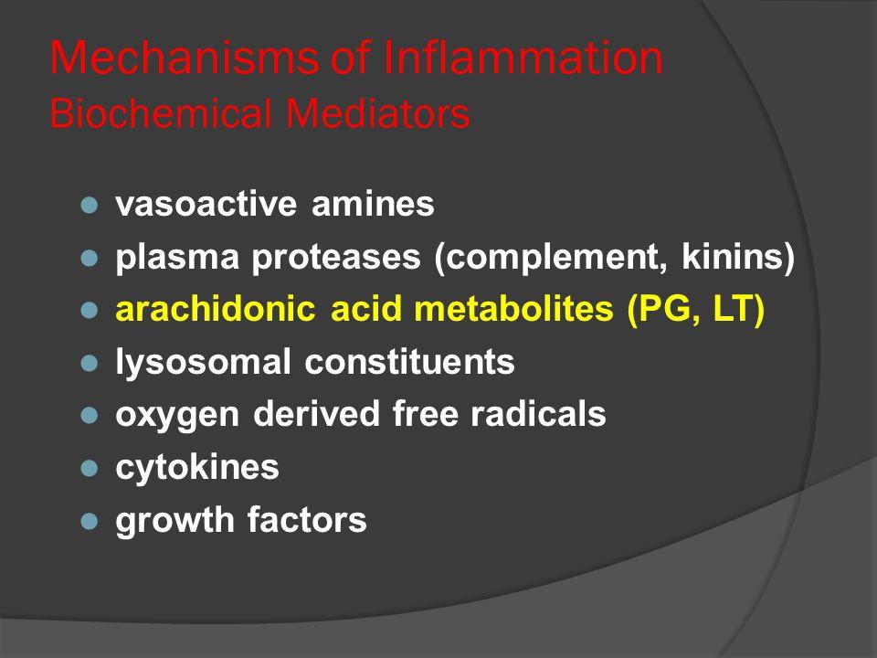 Mechanisms of Inflammation Biochemical Mediators