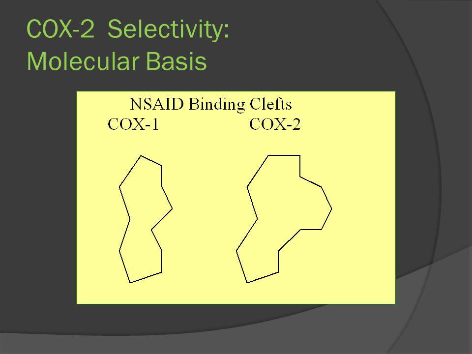 COX-2 Selectivity: Molecular Basis