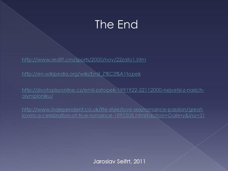 The End Jaroslav Seifrt, 2011