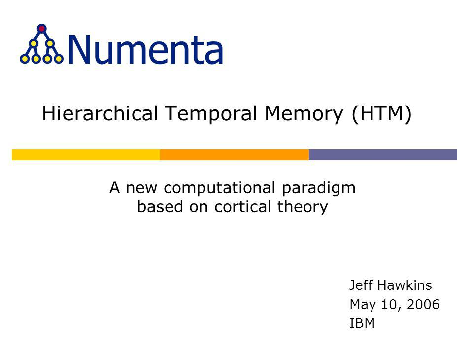 Hierarchical Temporal Memory (HTM)