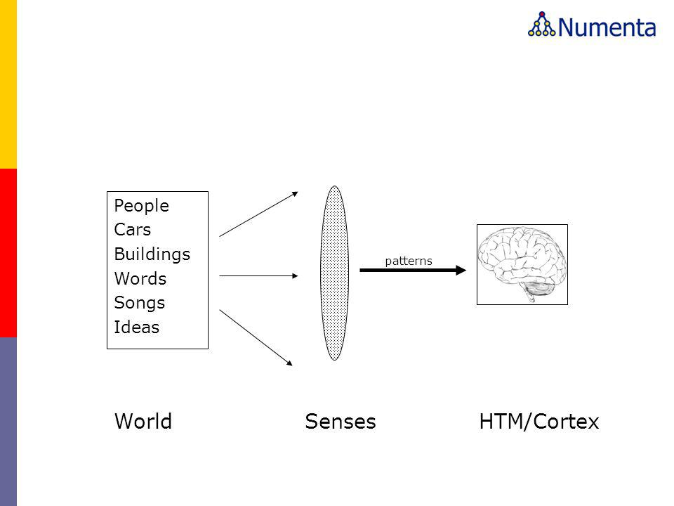 World Senses HTM/Cortex People Cars Buildings Words Songs Ideas