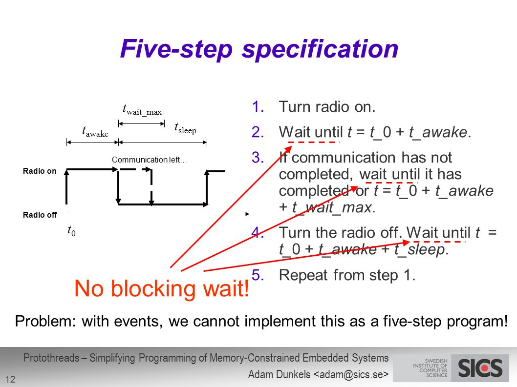 Five-step specification