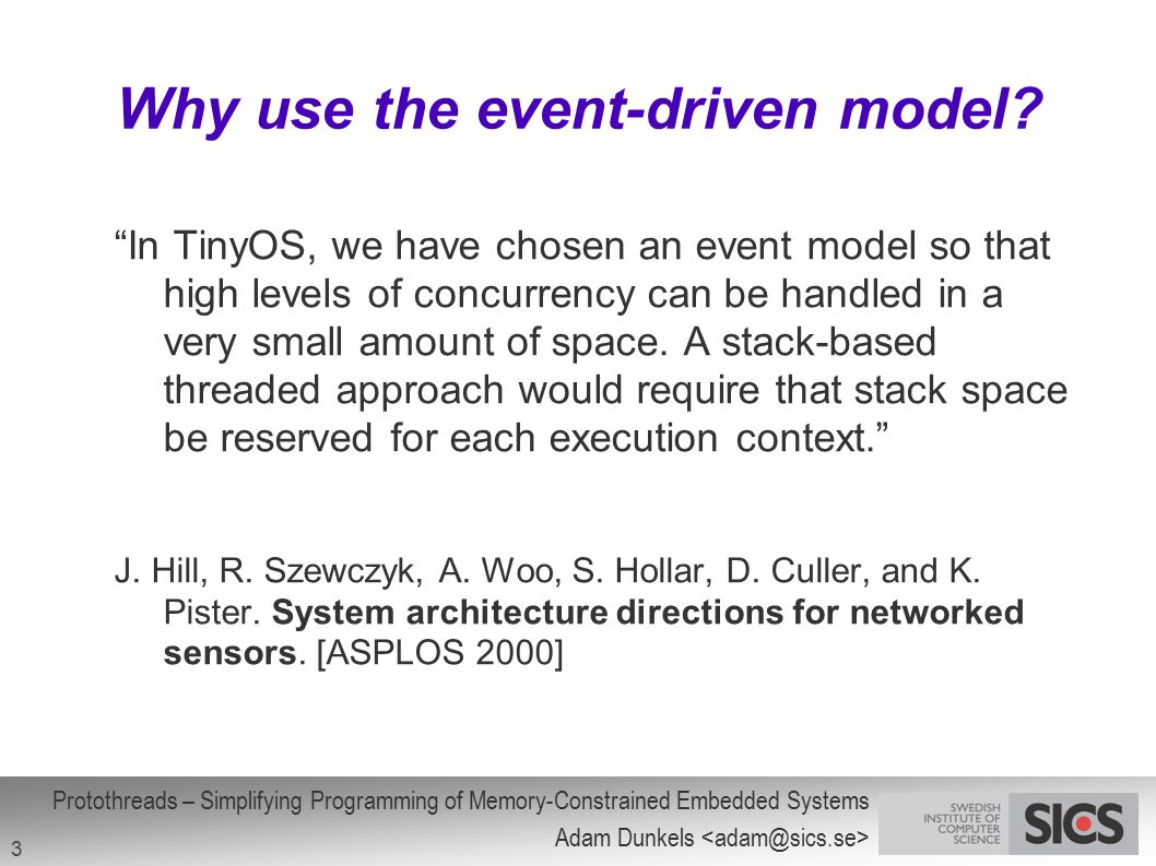 Why use the event-driven model