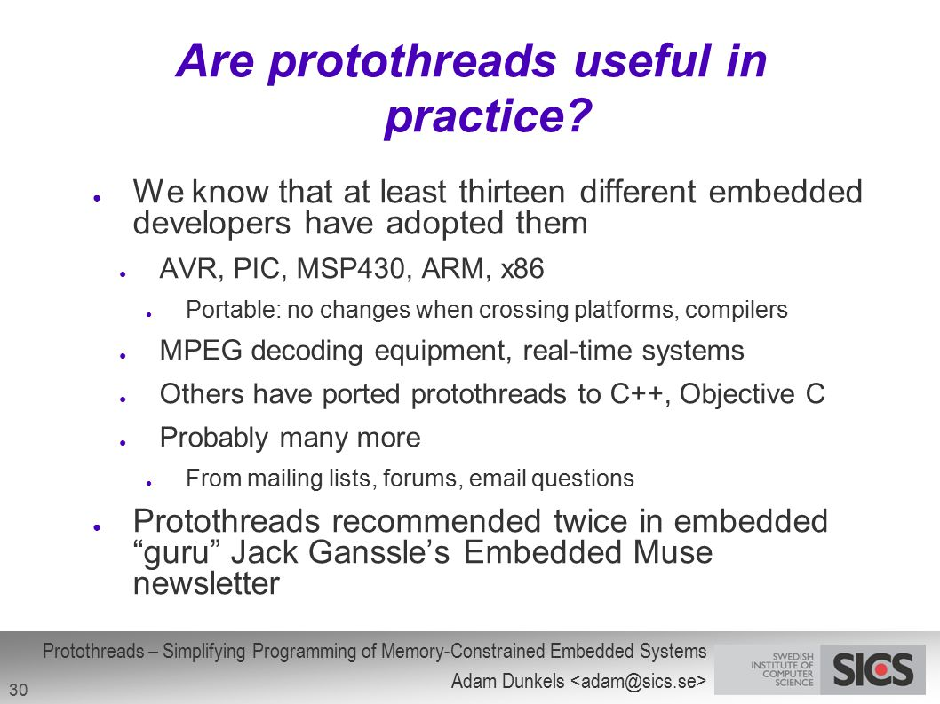 Are protothreads useful in practice