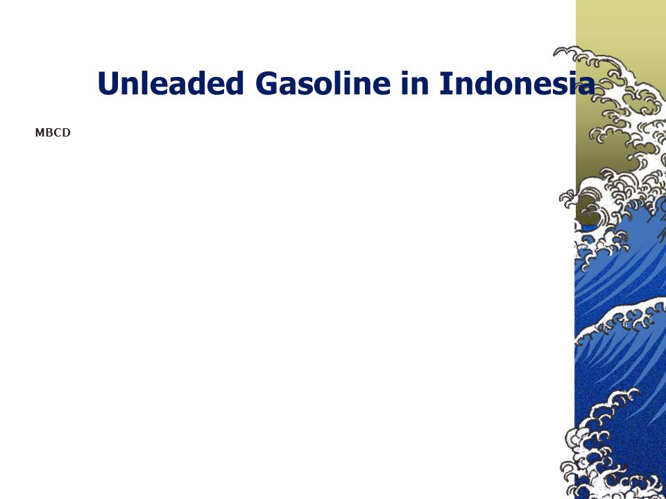 Unleaded Gasoline in Indonesia