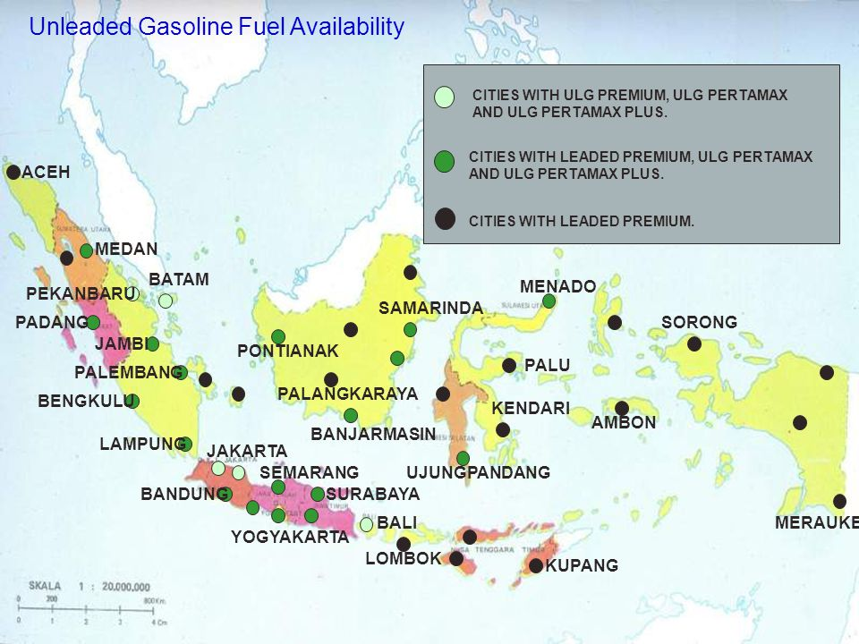 Unleaded Gasoline Fuel Availability