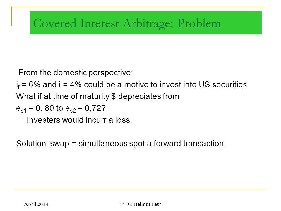 Covered Interest Arbitrage: Problem