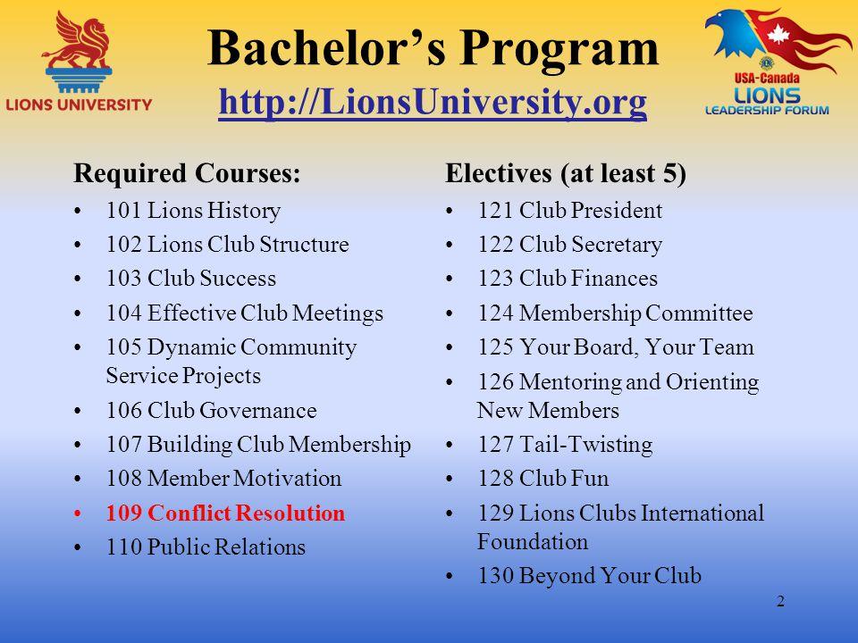 Bachelor's Program http://LionsUniversity.org