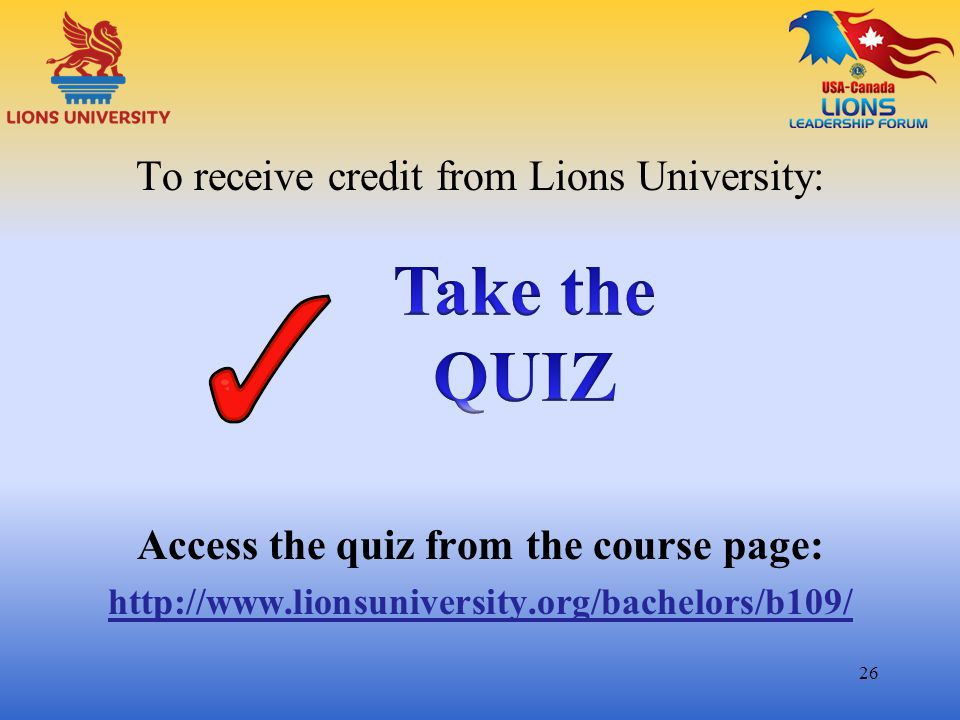 Access the quiz from the course page: