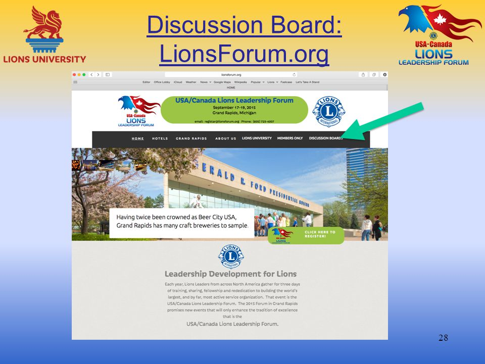 Discussion Board: LionsForum.org