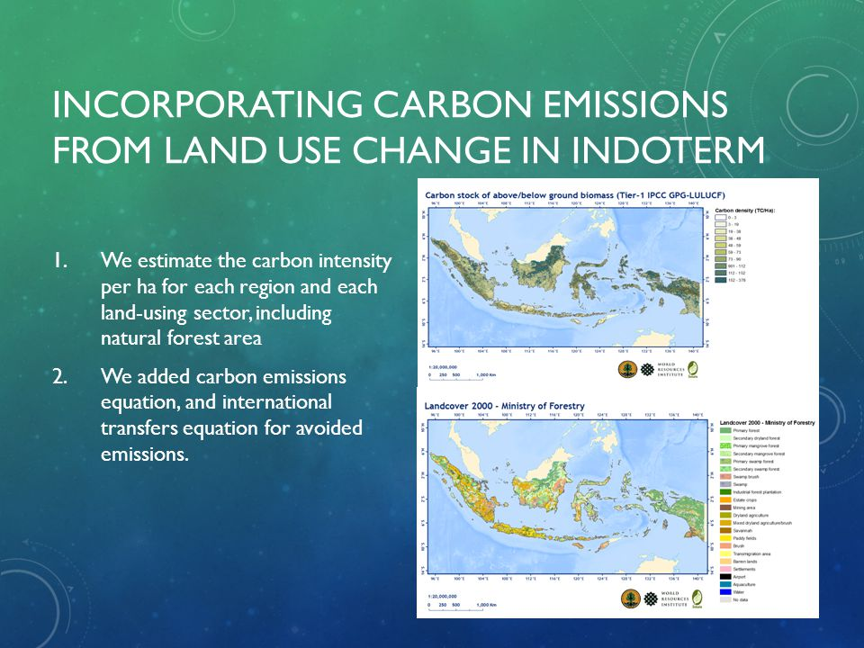 Incorporating carbon emissions from land use change in IndoTERM