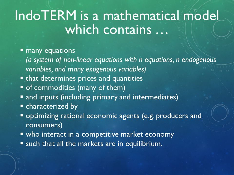 IndoTERM is a mathematical model which contains …