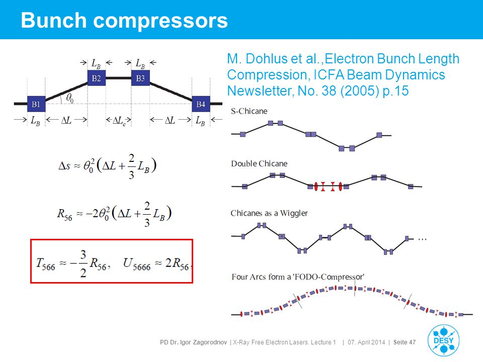 Bunch compressors M.