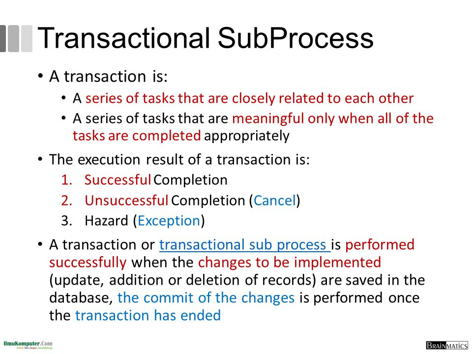 Transactional SubProcess
