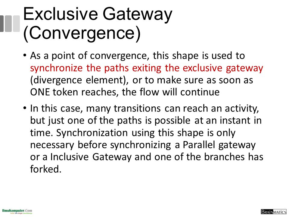 Exclusive Gateway (Convergence)