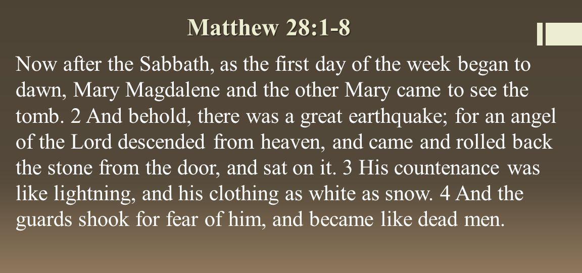 Matthew 28:1-8