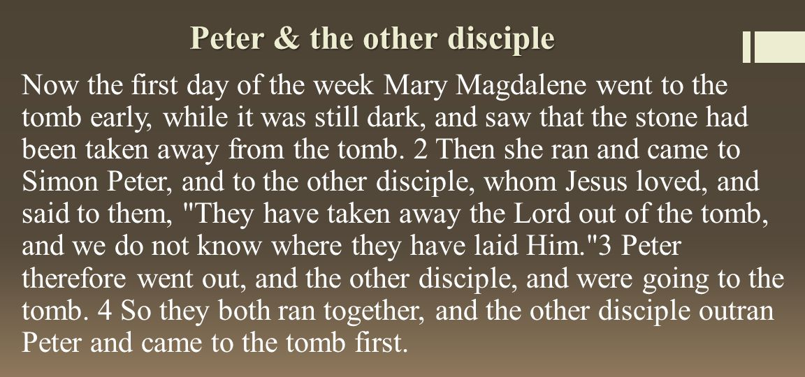 Peter & the other disciple