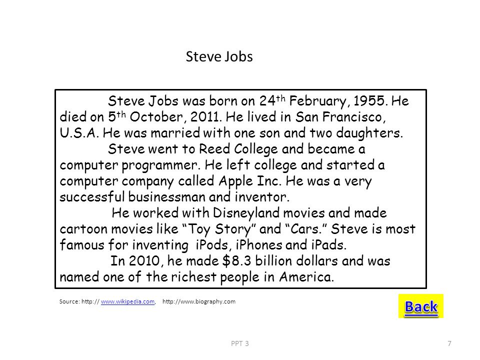 K. Steve Jobs