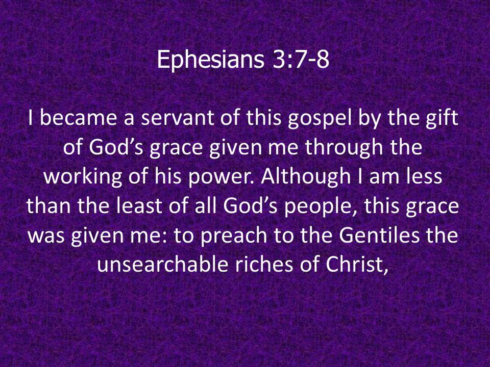 Ephesians 3:7-8