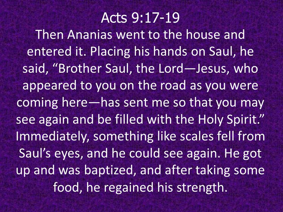 Acts 9:17-19