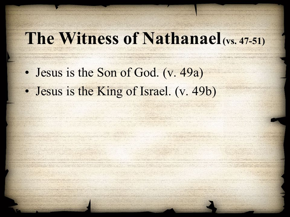 The Witness of Nathanael (vs )