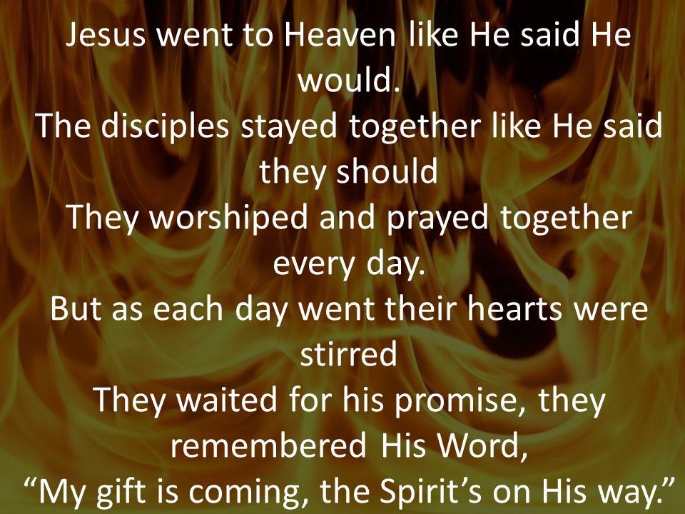 Jesus went to Heaven like He said He would