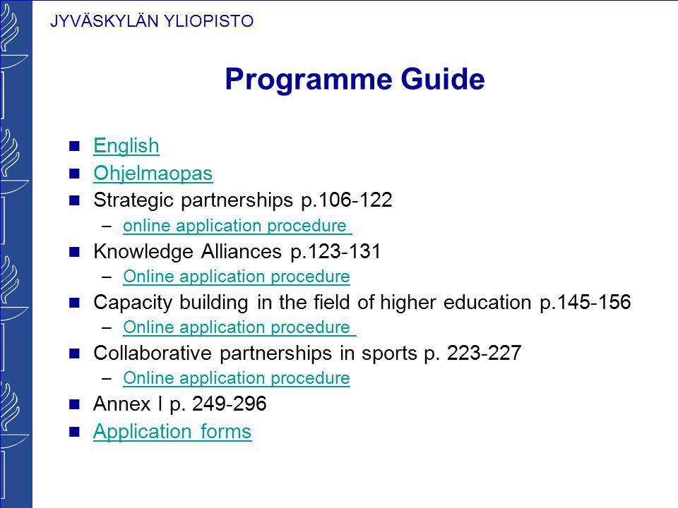Programme Guide English Ohjelmaopas Strategic partnerships p.106-122