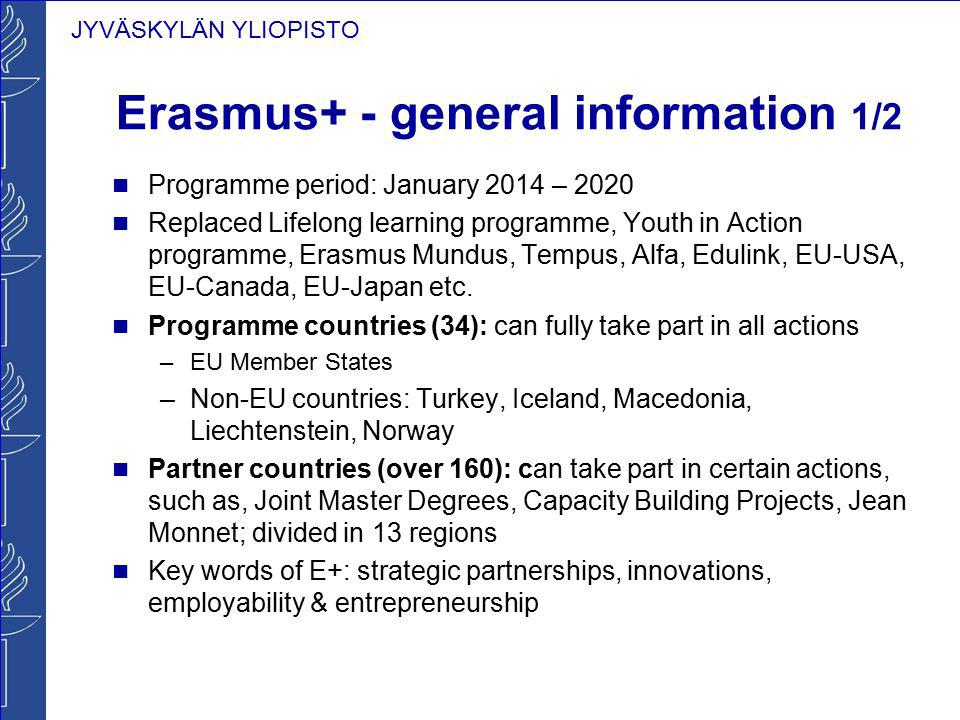 Erasmus+ - general information 1/2