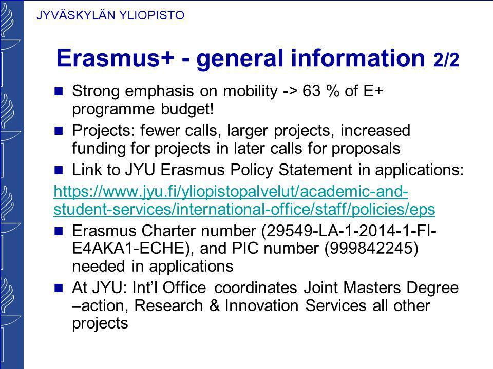 Erasmus+ - general information 2/2