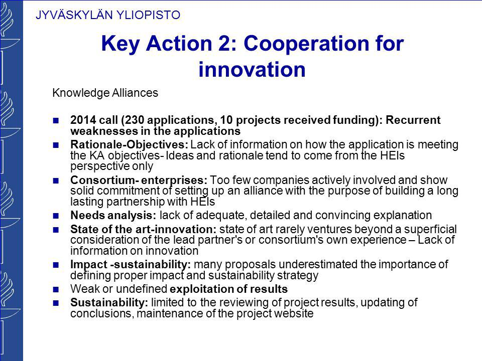 Key Action 2: Cooperation for innovation