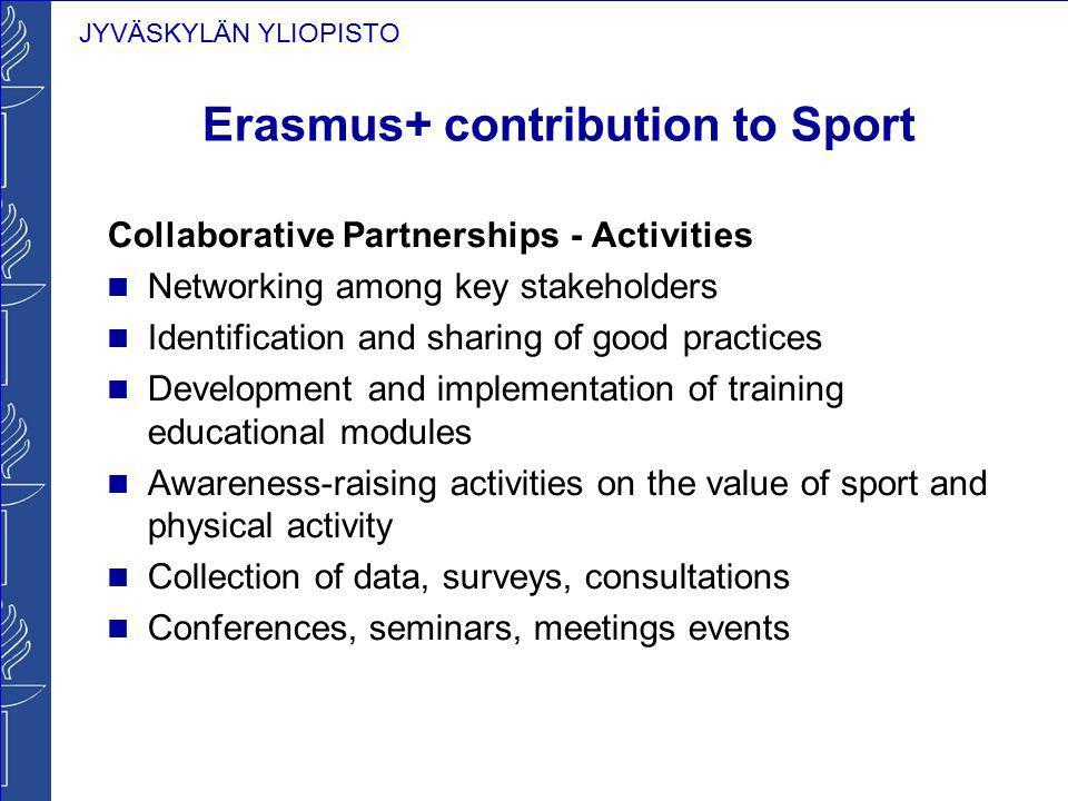 Erasmus+ contribution to Sport