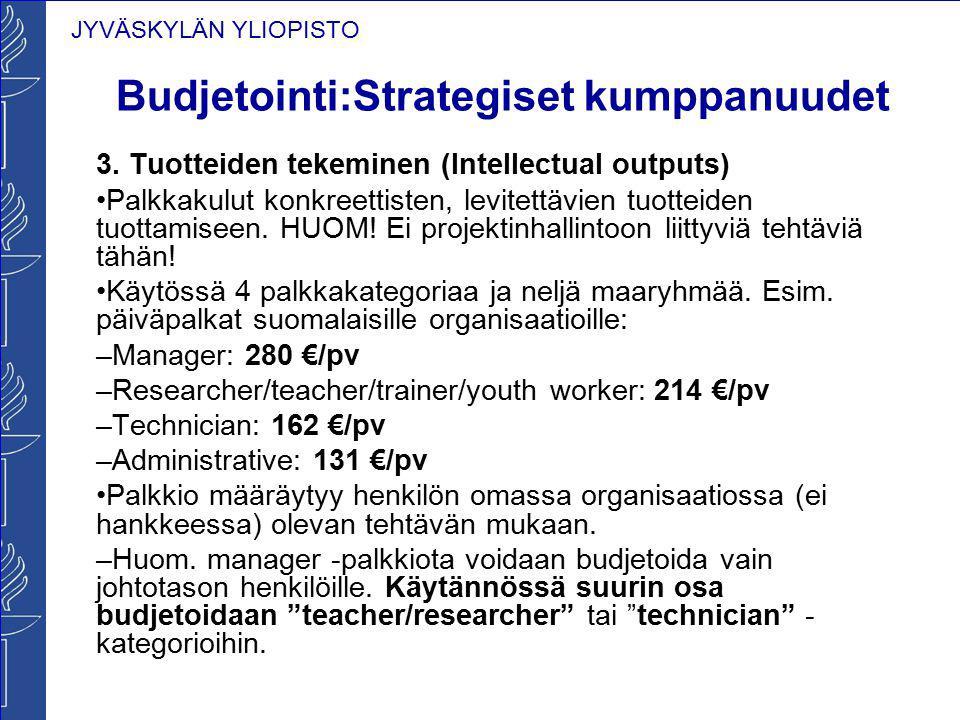 Budjetointi:Strategiset kumppanuudet