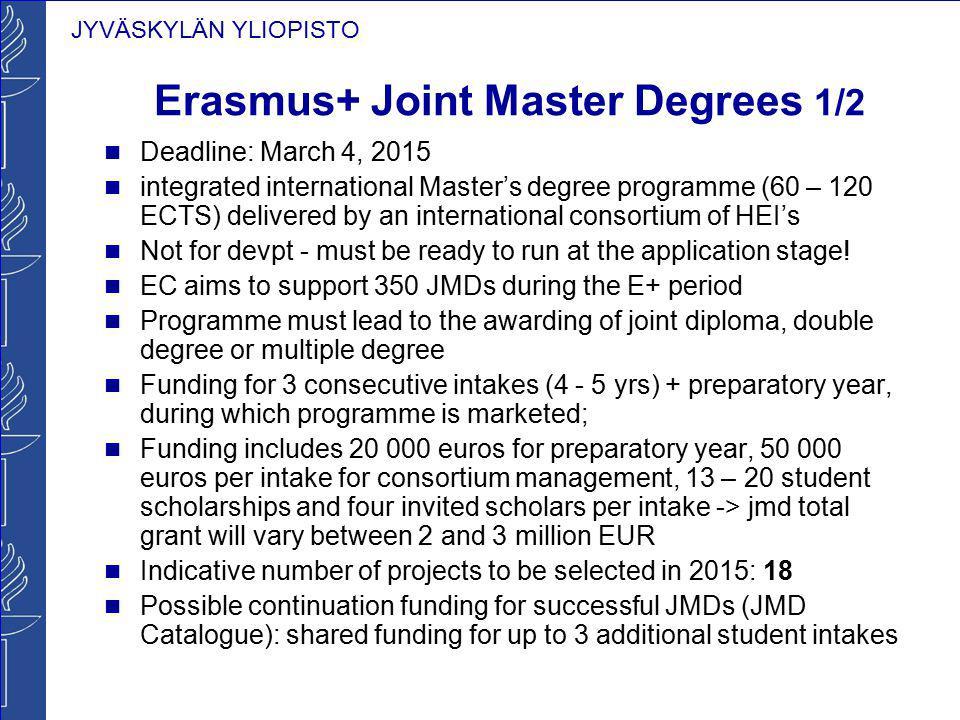 Erasmus+ Joint Master Degrees 1/2