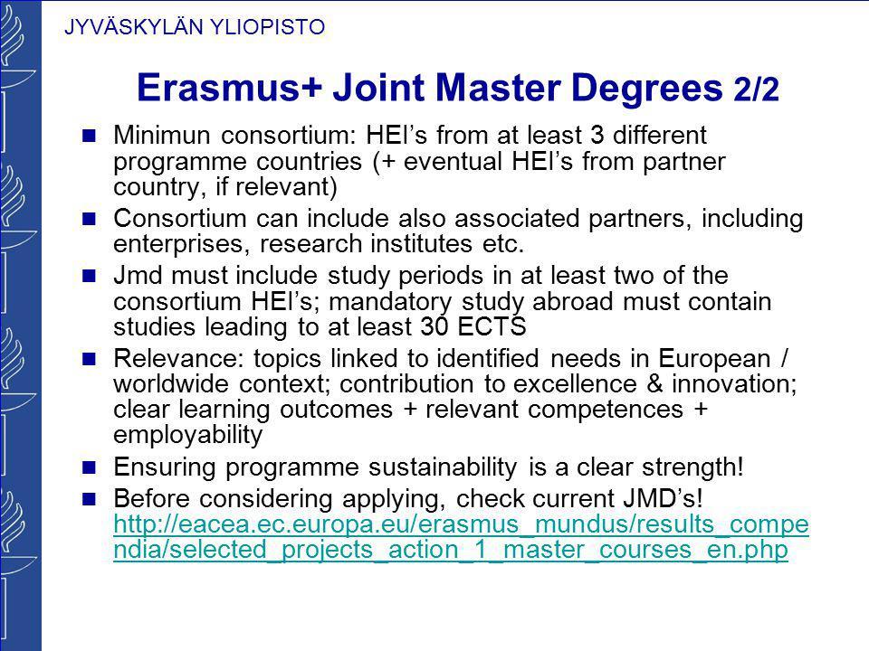 Erasmus+ Joint Master Degrees 2/2