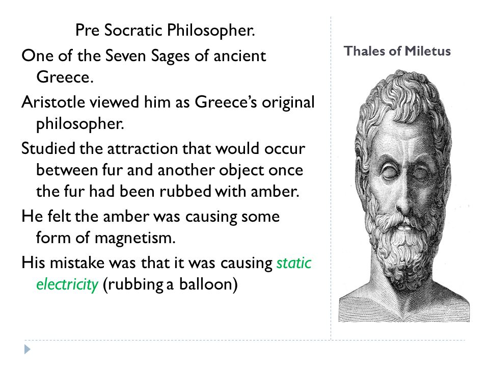 Pre Socratic Philosopher. One of the Seven Sages of ancient Greece